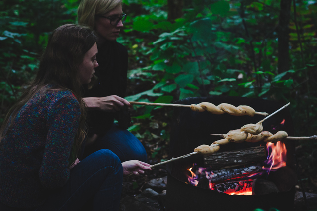 Campfire Bread on a stick on christelleisflabbergasting.com