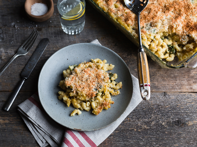 macaroni au fromage kale et courge Butternut