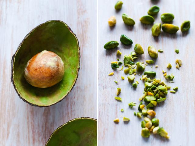 Avocado and pistachio