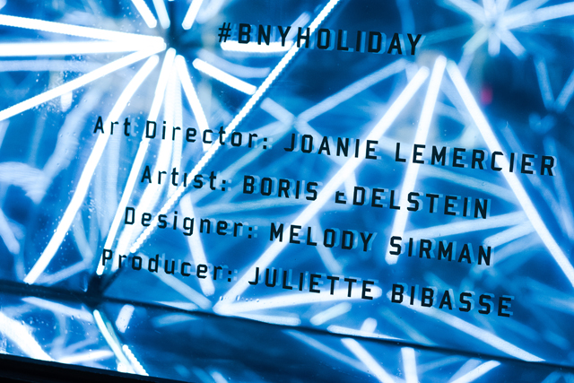 BNY Holiday NYC by Joanie Lemercier, Producer: Juliette Bibasse