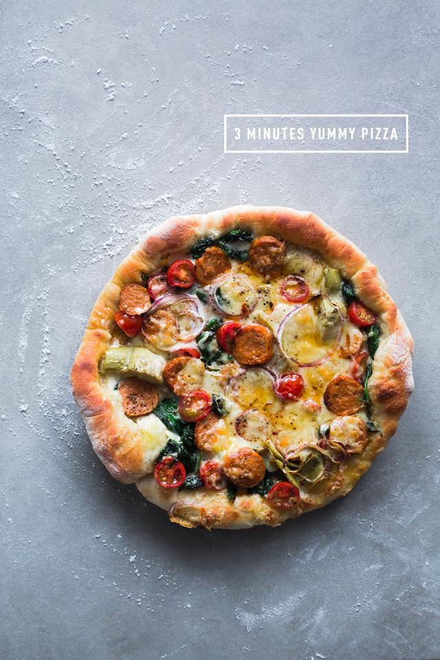 3 minutes cast iron skillet pizza on christelleisflabbergasting.com