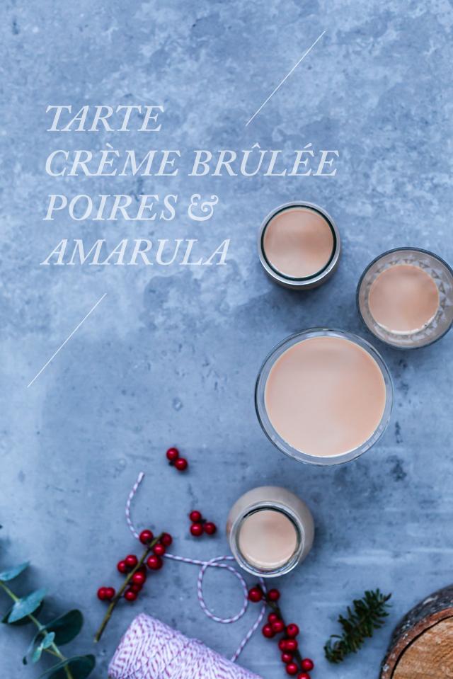 Pear & Amarula Crème Brûlée Tart