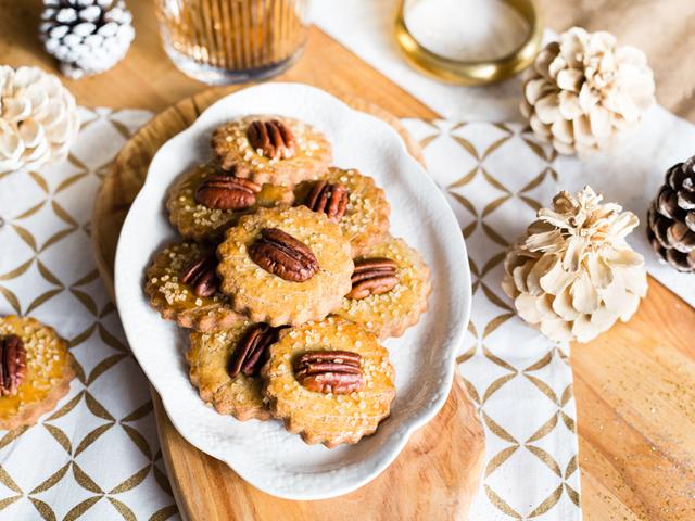 Cardamom and Pecan Cookies