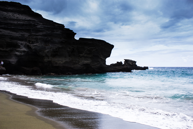 Greensand Beach, Big Island, Hawaii