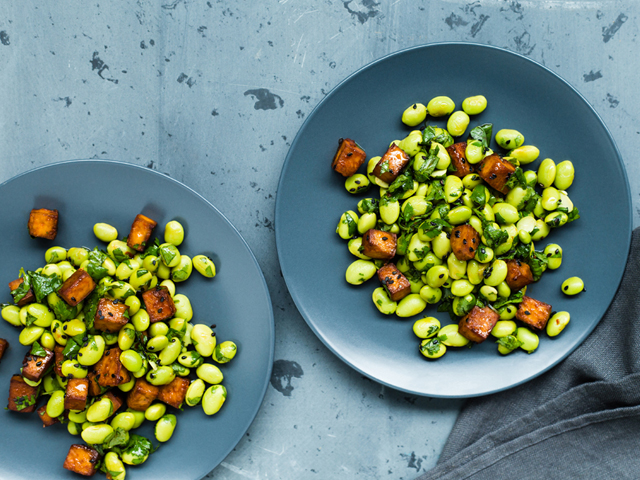 Edamame and Crispy Tofu Salad |Christelle is flabbergasting x La Presse