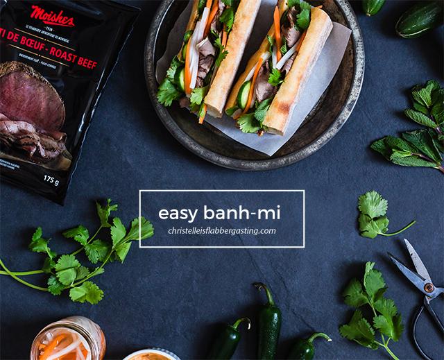 Easy Banh-Mi Recipe on christelleisflabbergasting.com