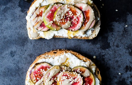 Fresh Ricotta, Figs, Tahini & Honey Toasts | www.christelleisflabbergasting.com