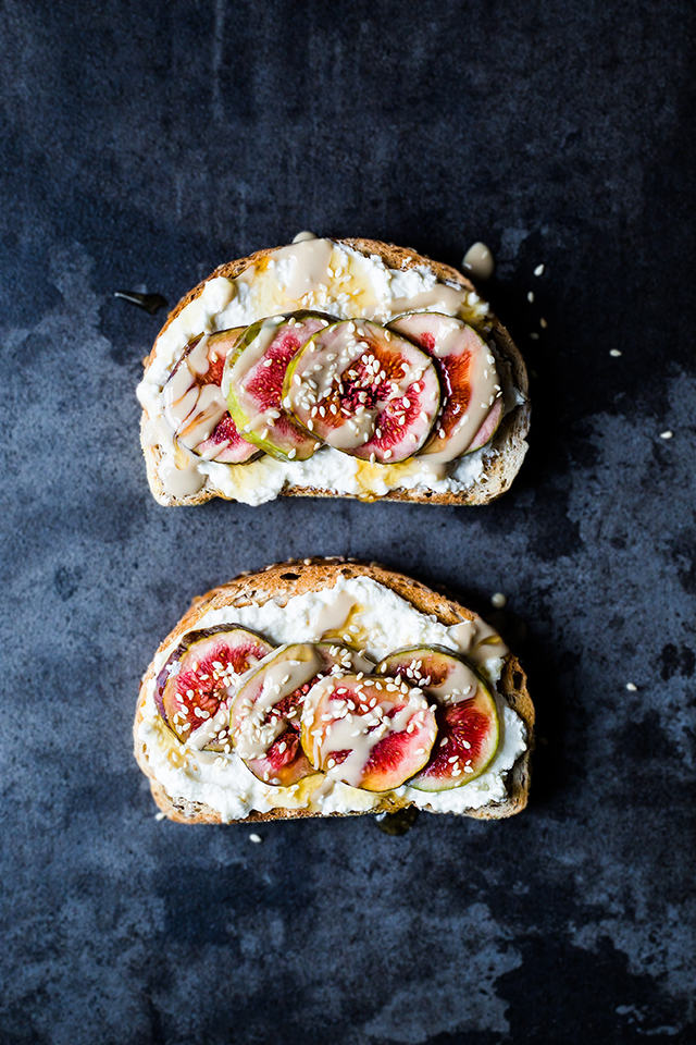 Fresh Ricotta, Figs, Tahini & Honey Toasts | www.christelleisflabbergasting.com