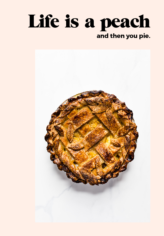 Peach pie with Honey & Muscat