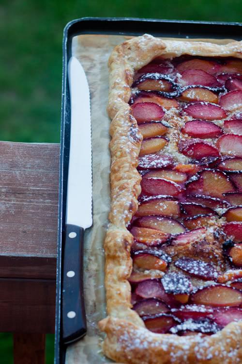 Tarte aux prunes et amande
