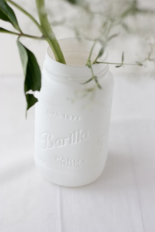 DIY, vase, pot masson, peinture